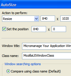 Micromanage Your Widescreen Monitor with AutoSizer