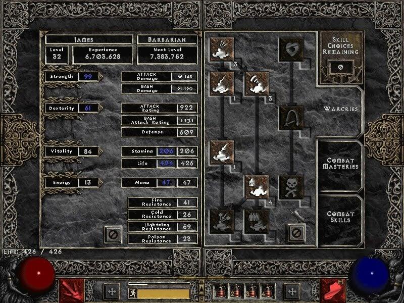 Diablo 3 Skill Progression: Experimentation vs. Investment