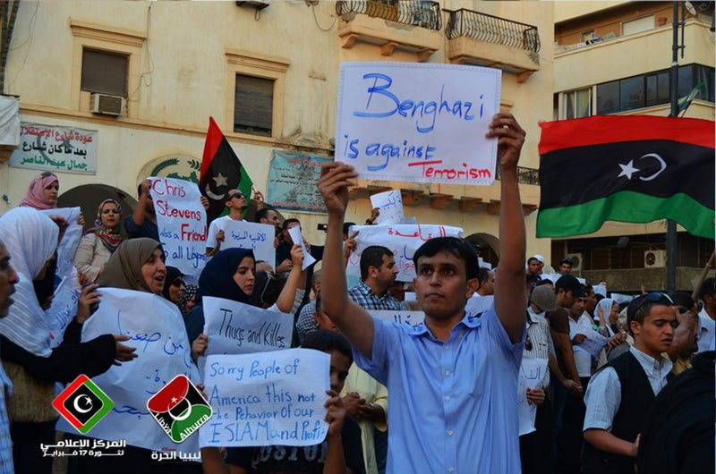 In Response to Benghazi Attack, Libyans Hold Powerful Anti-Terror Demonstrations