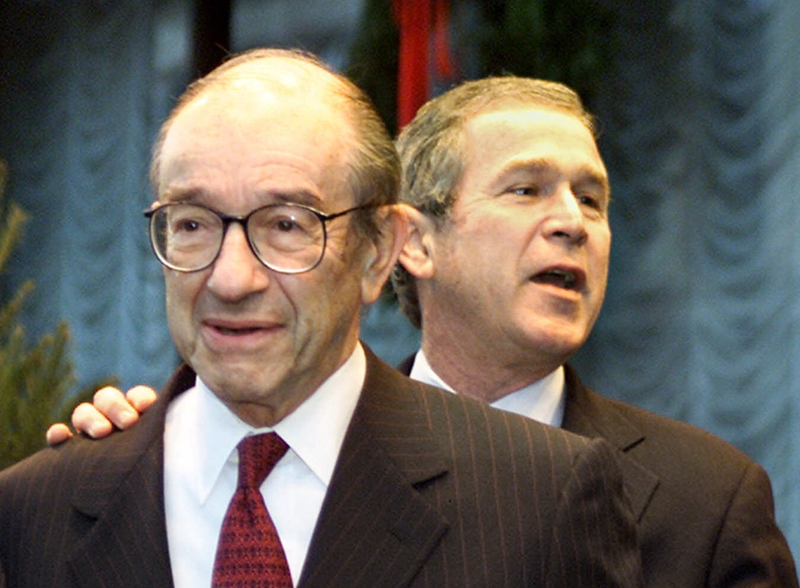 Oh No, Alan Greenspan Says the Stock Market Will Keep Going Up