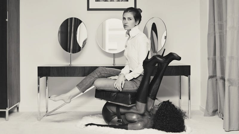 Russian Socialite on Black Lady Chair Offers Hearty Nonpology