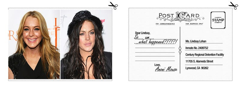 Some of Our Favorite Lindsay Lohan Prison Postcards