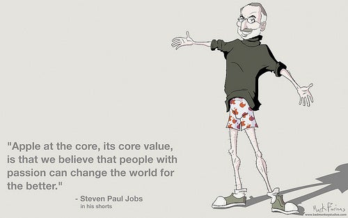 """Steve Jobs's """"People With Passion Can Change The World For The Better"""" Desktop Wallpaper"""