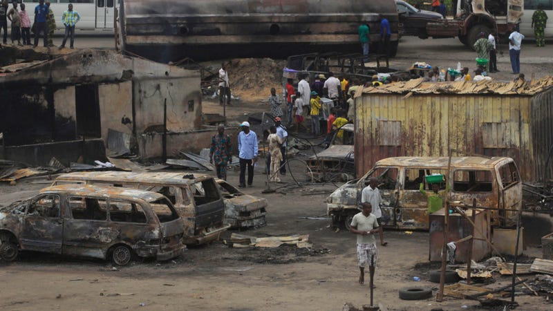 A Tanker Truck Explosion In Nigeria Killed 95 People Trying To Collect The Fuel