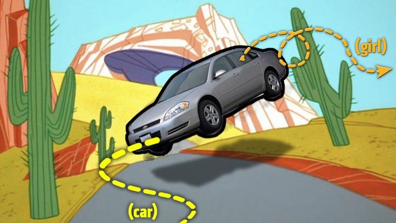 Elderly Motorist Bounces A Teen Out Of A Car