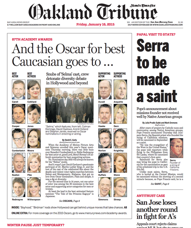 And the Oscar for Best Headline Goes to the Oakland Tribune