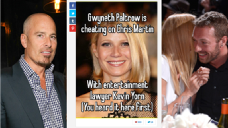 Secret-Sharing App Claims Gwyneth Paltrow Is Cheating with Lawyer