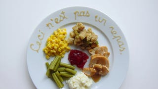 How would famous artists plate Thanksgiving