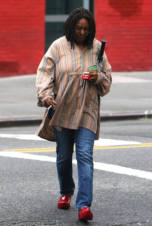 Whoopi Goldberg's Clogs, Smokes & Lotto Tickets