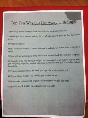 Miami University's 'Top Ten Ways to Get Away with Rape' Flyer Fiasco