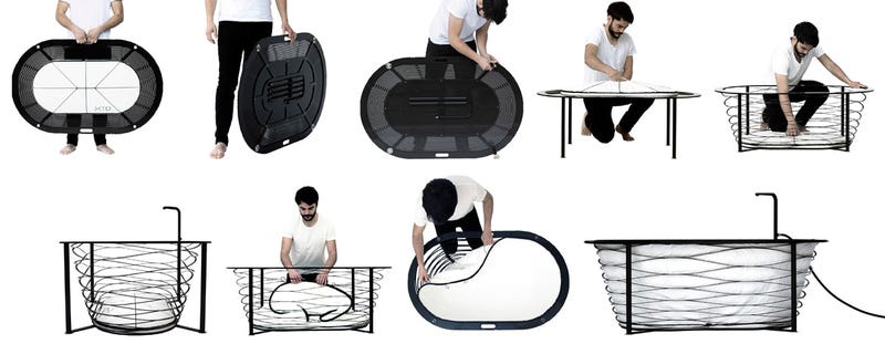 Portable Bathtub Packs Flatter Than a Stolen Hotel Bathrobe