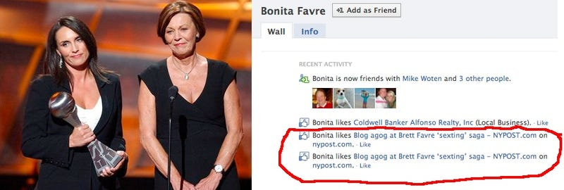 Brett Favre's Mom Likes The Story About His Sexting Habits