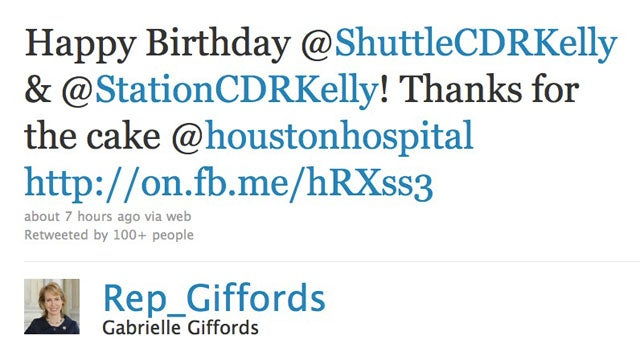 Gabrielle Giffords Tweets Birthday Message To Husband