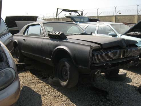 Circle Of Automotive Life Nearly Complete: DOTS '67 Cougar Now In Junkyard