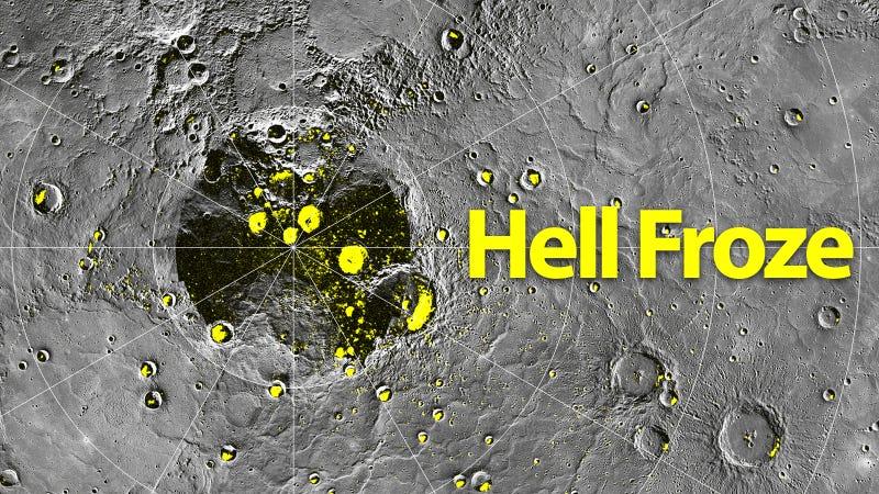 Frozen Water Found in Scorching Hot 752F Mercury Hell