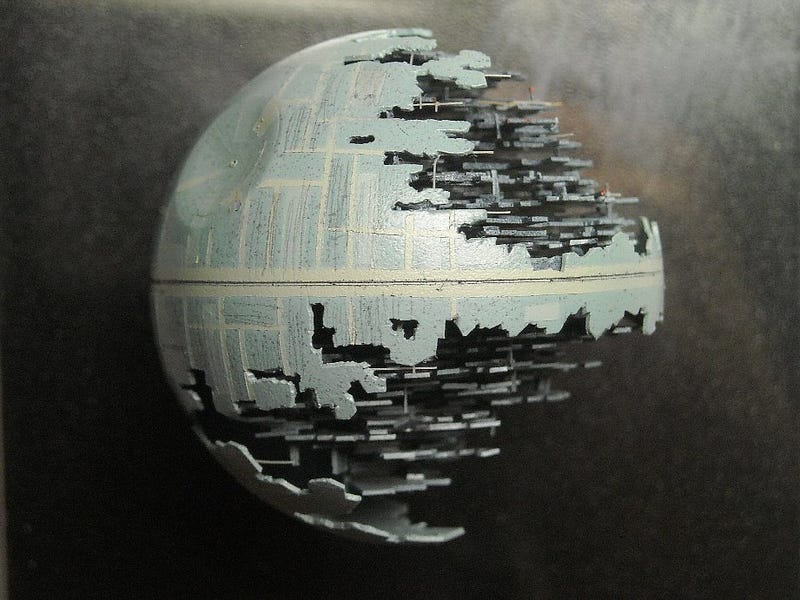 That's No Moon...It's An Insanely Detailed Death Star Made Out of a Ping Pong Ball