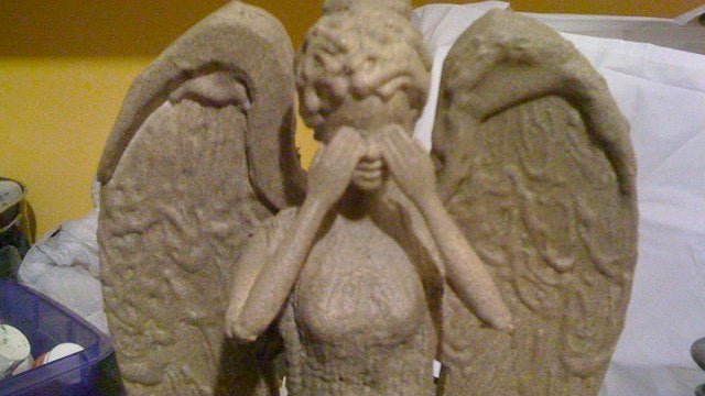 Weeping Angel Barbie is waiting for Ken to Blink