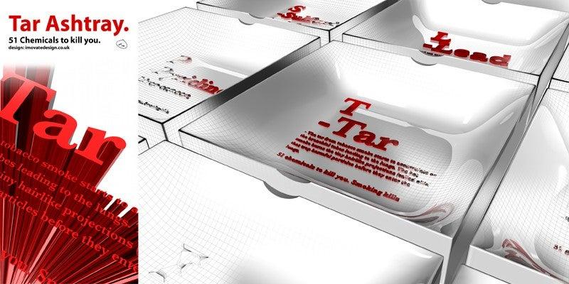 Tar Ashtray Concept Measures Your Dwindling Lifeforce, Smokers