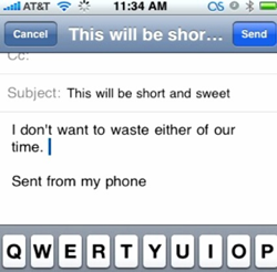 Email Etiquette for Mobile Phones?