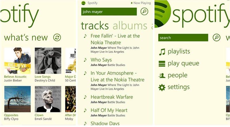 Spotify llega a Windows Phone 8