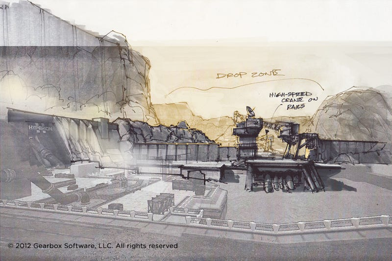 Some of The Concept Art Behind Borderlands 2