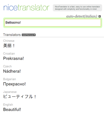 Nice Translator Improves Google Translate