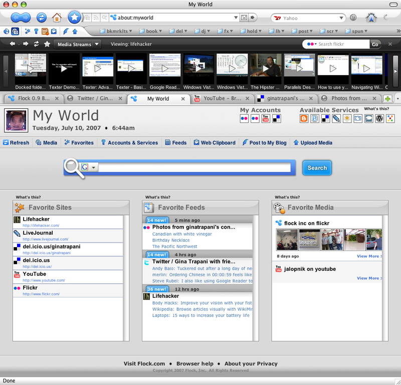 Flock social web browser