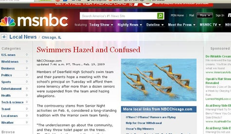 MSNBC's Idea Of Swimming Is Different Than Ours