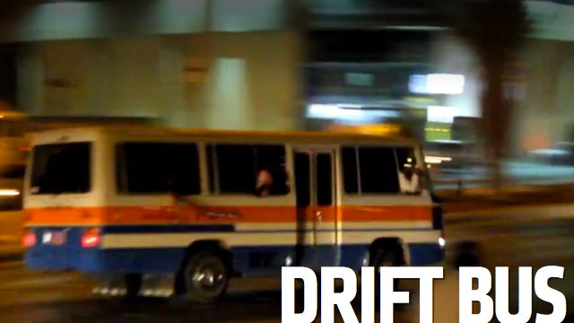 Watch These Crazy Saudis Drift A Bus Full Of People In Traffic