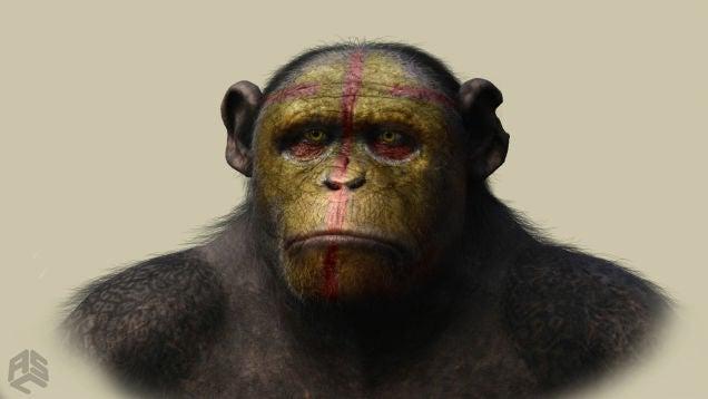Espectaculares bocetos de El Amanecer del Planeta de los Simios