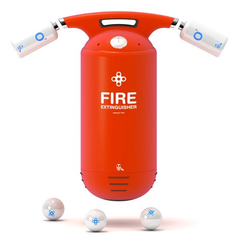Capsule Fire Extinguisher Concept Arms You With Flame-Tamping Grenades