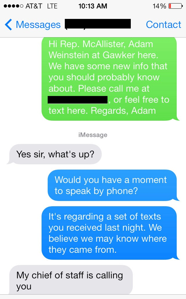 "Kissy Congressman Confesses to Texting Stranger: ""I Messed Up"""