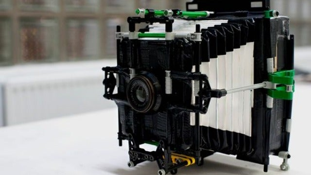 This Vintage Style Camera Is Made From Legos, Cardboard, and Duct Tape