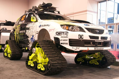 Ken Block's Tracked Subaru STI Begs For Snow