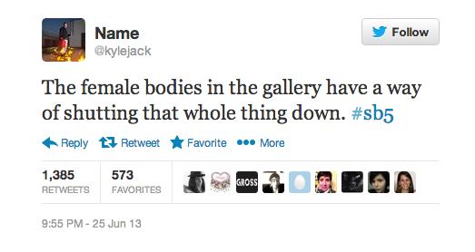 My favorite tweet of the night.