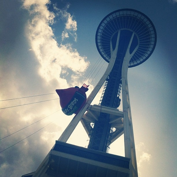 Seattle's Space Needle Was Turned Into a Giant Angry Birds Slingshot