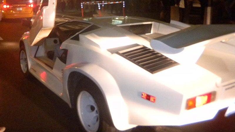 Fake Lamborghini cruises Occupy Wall Street protest