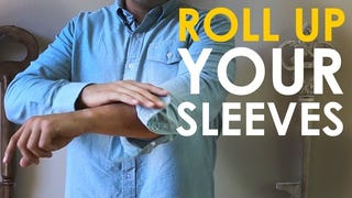 This Video Shows Off the Three Best Ways to Roll Up Your Sleeves