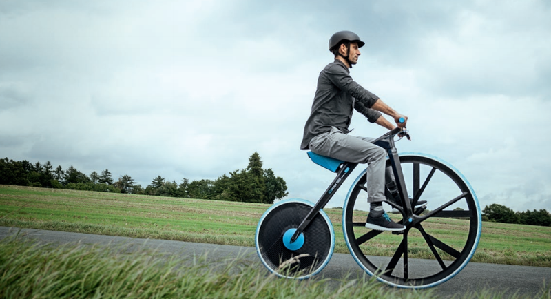 Space Age Plastics Reinvent the 19th Century Penny-farthing