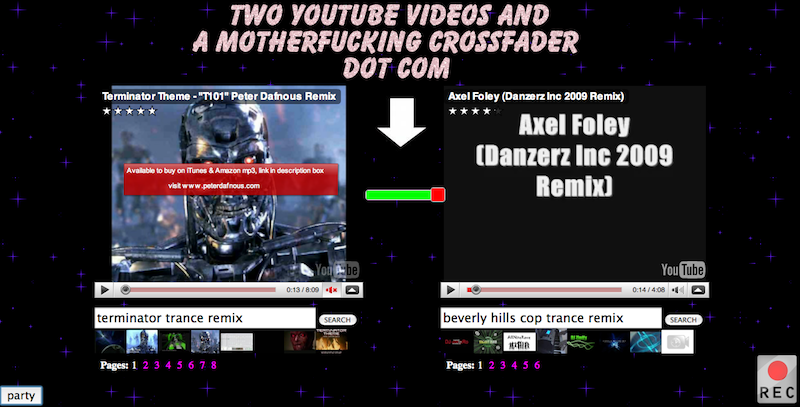Two YouTube Videos and a Motherf***ing Crossfader, Dot Com