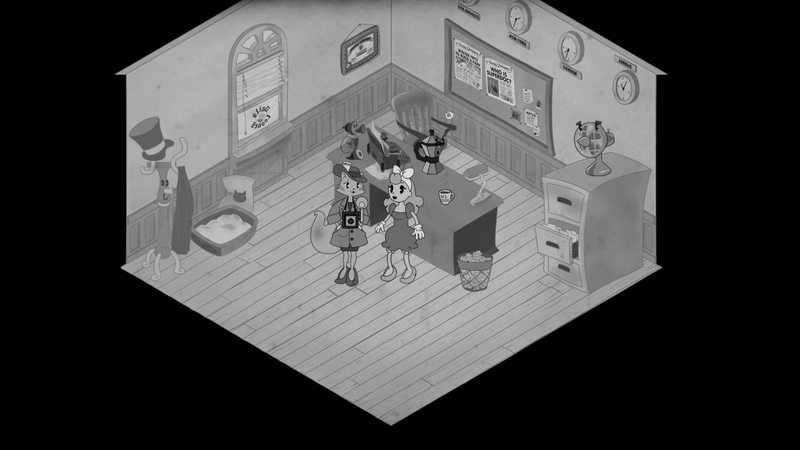 This Game Looks Like A 1930's Black and White Cartoon