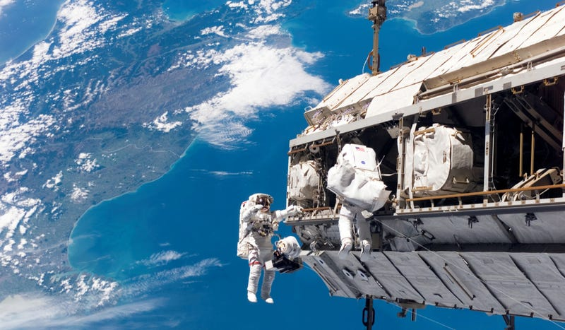 Watch the ISS spacewalk live for some respite from the manhunt madness