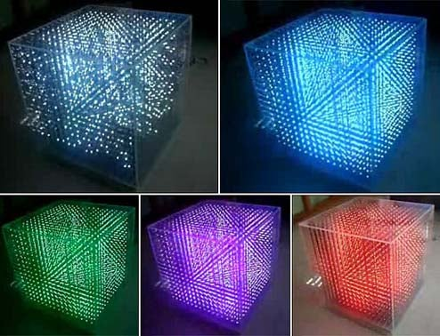 Seekway 3D LED Cube Amazes in Glorious Color Phasing Fashion