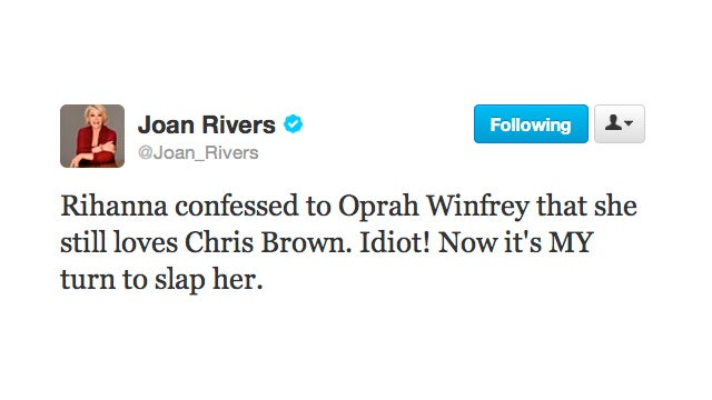 Joan Rivers Is the Latest Celebrity to Get On Rihanna's Case