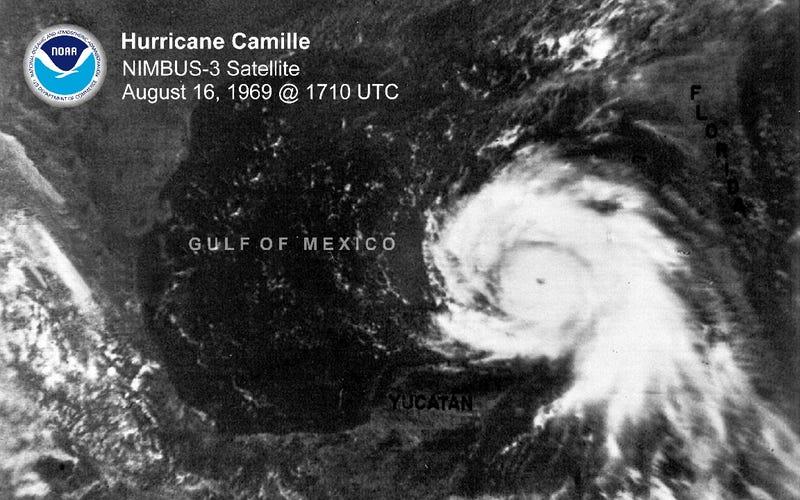 National Hurricane Center Slightly Downgrades 1969's Hurricane Camille