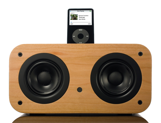 Vers 2X Wooden iPod Sound System