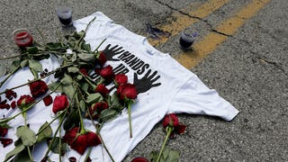 Report: Police Drove Over Michael Brown Memorial, Let Dog Piss on It