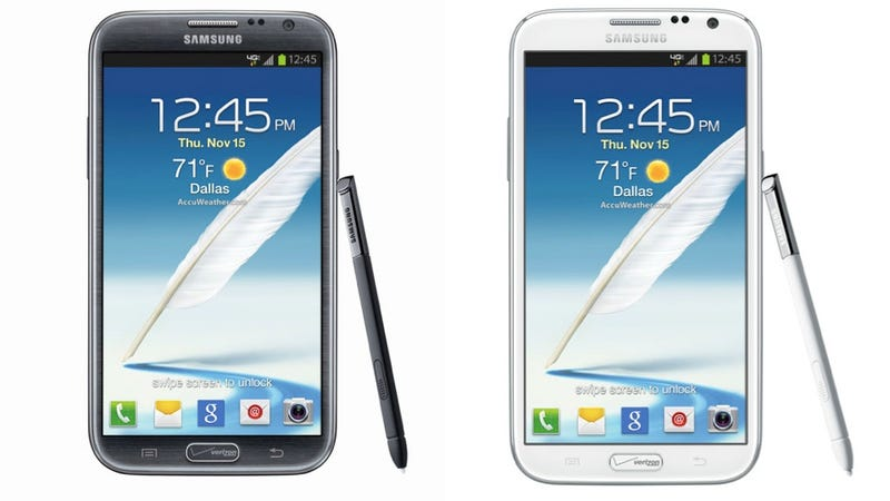 Ugh, Verizon Plastered Its Logo on the Samsung Galaxy Note II Home Button