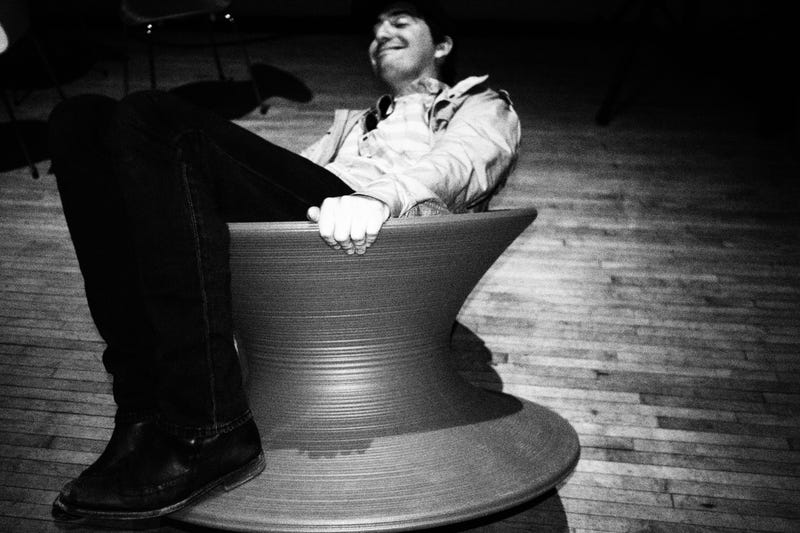 THE SPUN CHAIR MAKES JAMES DEL HAPPY