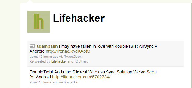 Discover the Lifehacker Editors' Quirks and Tips via Twitter
